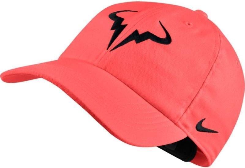 Теннисная кепка Nike Rafa U Aerobill H86 Cap hot punch/black