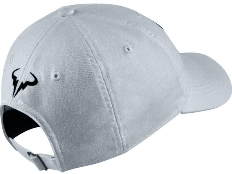 Теннисная кепка Nike Rafa U Aerobill H86 Cap pure platinum/black