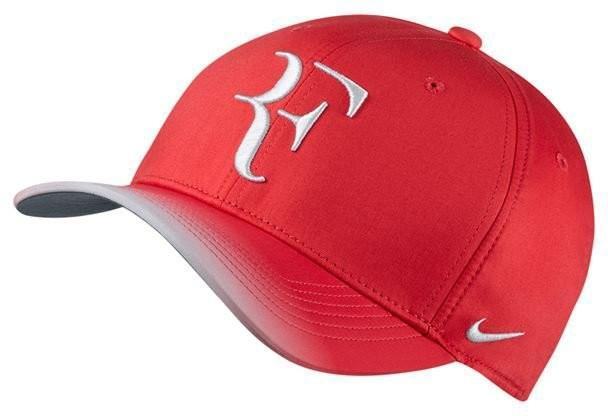 Теннисная кепка Nike RF U Aerobill CLC99 Cap action red/flint grey/white