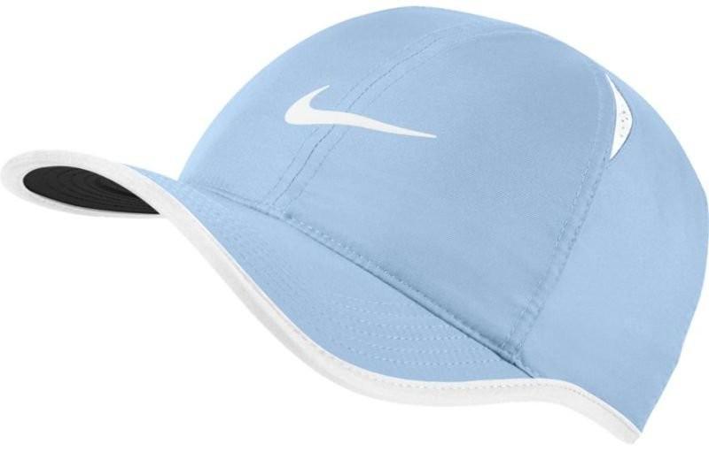 Теннисная кепка Nike U Aerobill Feather Light Cap blue grey/black/blue grey/white