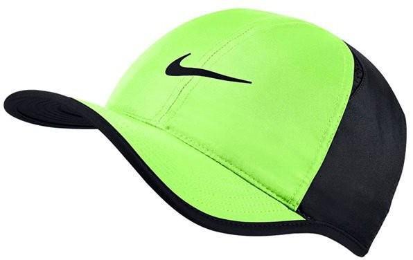 Теннисная кепка Nike U Aerobill Feather Light Cap ghost green/black/black/black