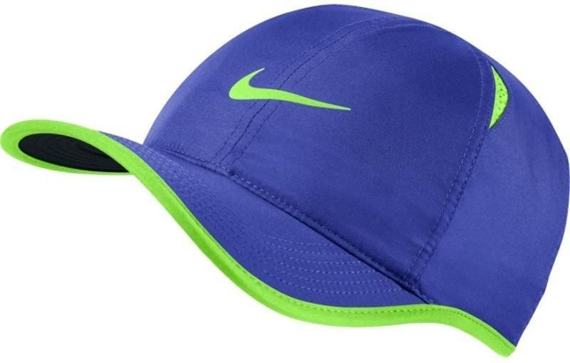 Теннисная кепка Nike U Aerobill Feather Light Cap paramount blue/black/ghost green