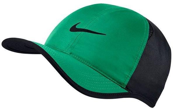 Теннисная кепка Nike U Aerobill Feather Light Cap stadium green/black/black/black