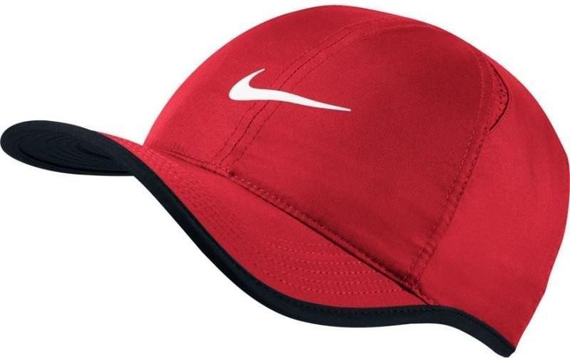 Теннисная кепка Nike U Aerobill Feather Light Cap university red/black/white