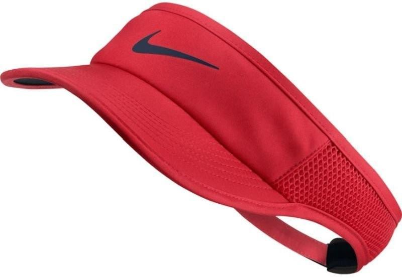 Козырек Nike Aerobill Feather Light Visor action red/black/midnight navy