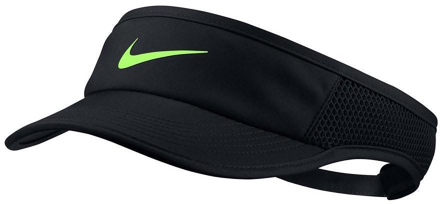 Козырек Nike Aerobill Feather Light Visor black/black/black/ghost green