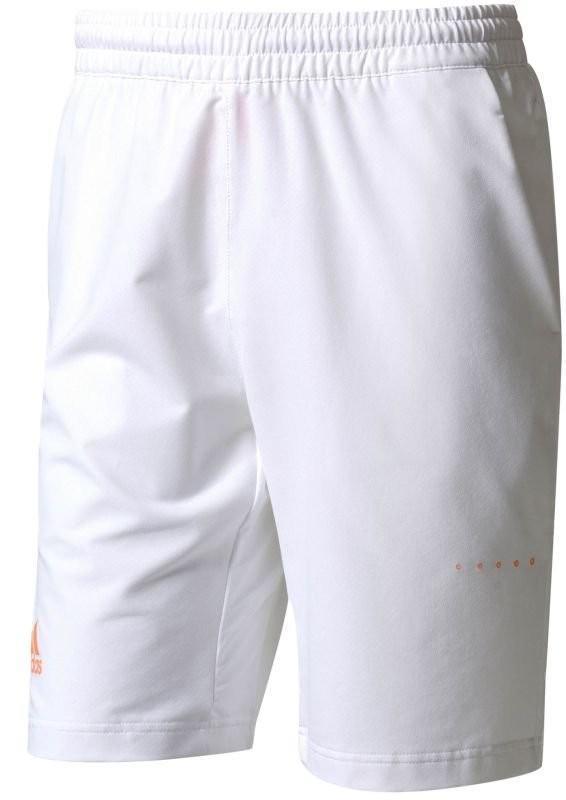 Теннисные шорты мужские adidas Barricade Bermuda white/glow orange