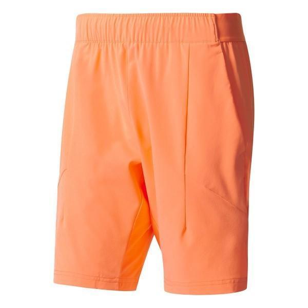 Теннисные шорты мужские adidas Melbourne Line Bermuda glow orange/white