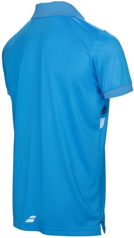 Теннисная футболка мужская Babolat Core Club Polo Men drive blue поло