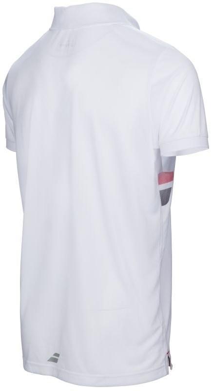 Теннисная футболка мужская Babolat Core Club Polo Men white поло
