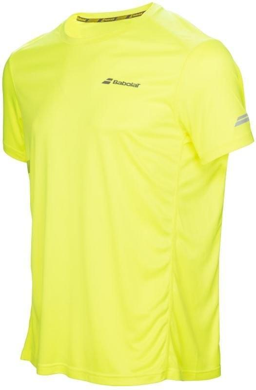 Теннисная футболка мужская Babolat Core Flag Club Tee Men aero yellow