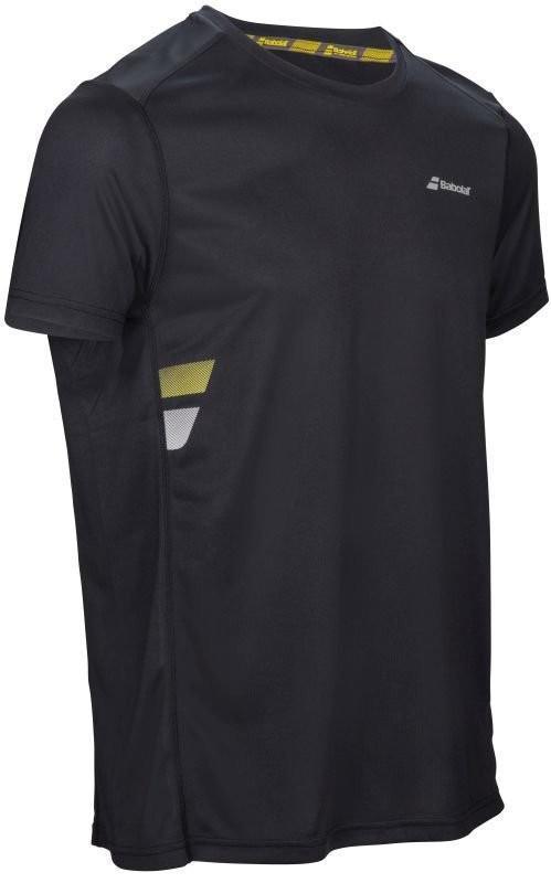 Теннисная футболка мужская Babolat Core Flag Club Tee Men black
