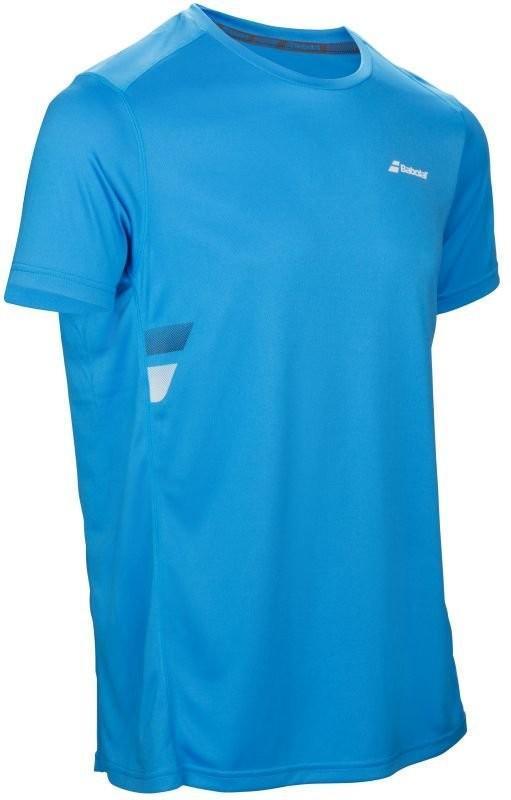 Теннисная футболка мужская Babolat Core Flag Club Tee Men drive blue