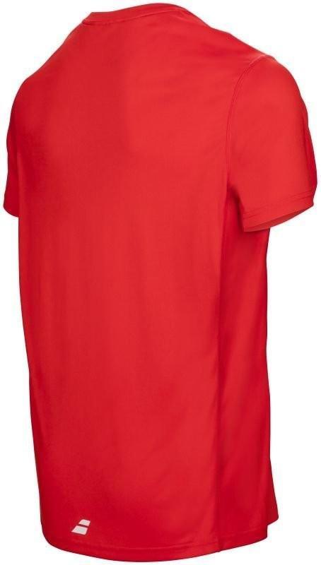 Теннисная футболка мужская Babolat Core Flag Club Tee Men strike red