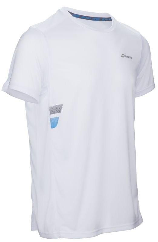 Теннисная футболка мужская Babolat Core Flag Club Tee Men white