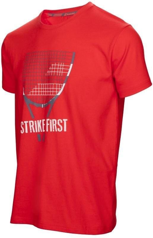 Теннисная футболка мужская Babolat Core Pure Strike Tee Men fluo red