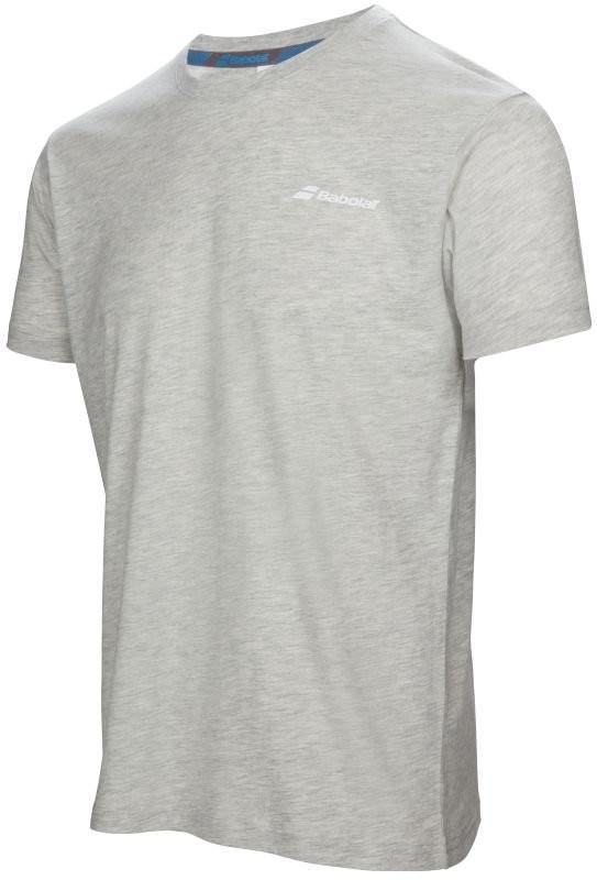 Теннисная футболка мужская Babolat Core Tee Men heather grey
