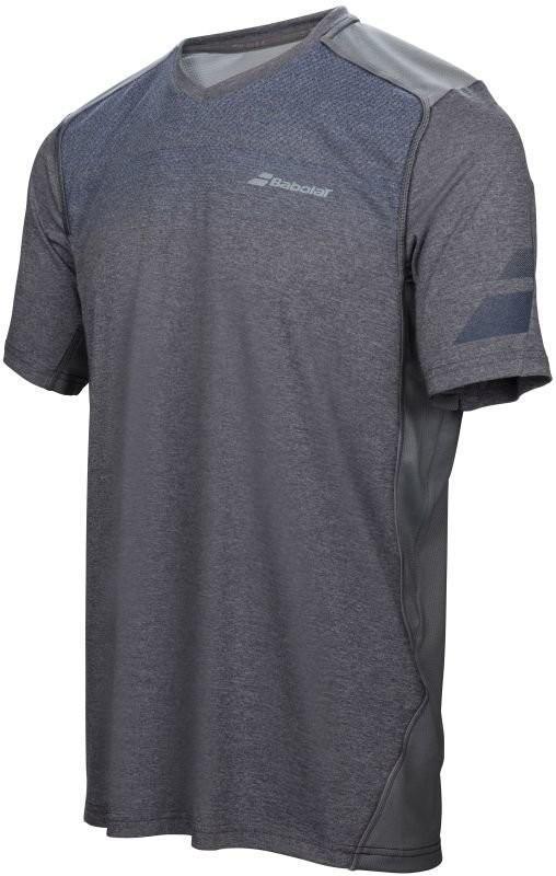 Теннисная футболка мужская Babolat Performance V Neck Tee Men heather grey