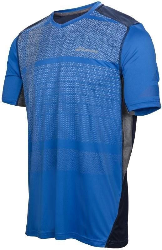 Теннисная футболка мужская Babolat Performance V Neck Tee Men nautical blue