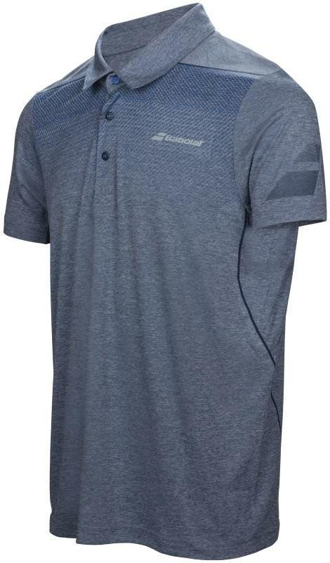 Теннисная футболка мужская Babolat Polo Performance Men dress blue поло