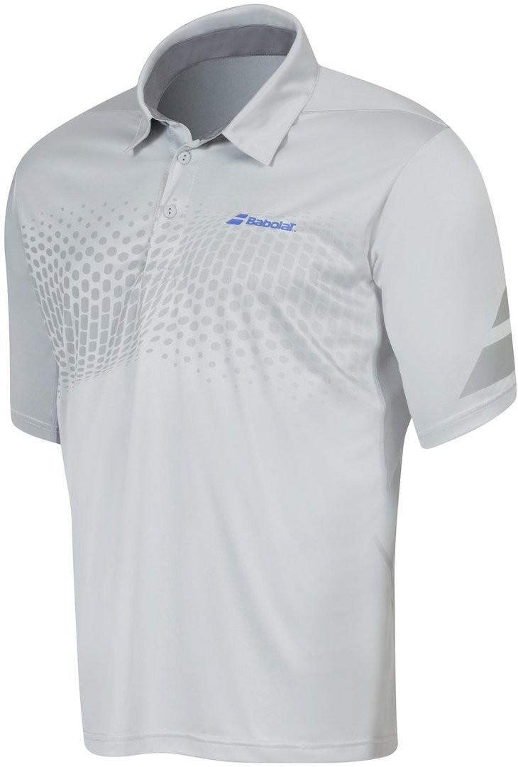 Теннисная футболка мужская Babolat Polo Performance Men grey поло