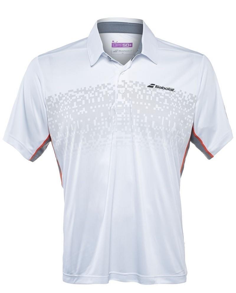 Теннисная футболка мужская Babolat Polo Performance Men white/black поло