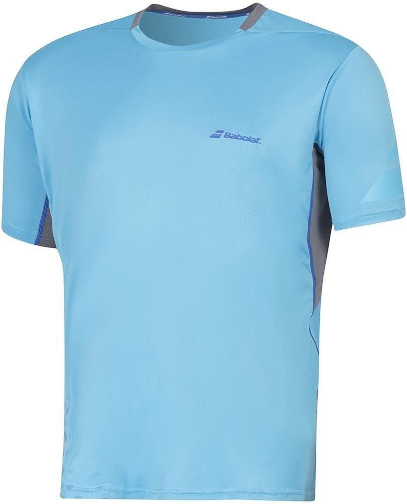 Теннисная футболка мужская Babolat T-Shirt Crew Neck Performance Men aquarius