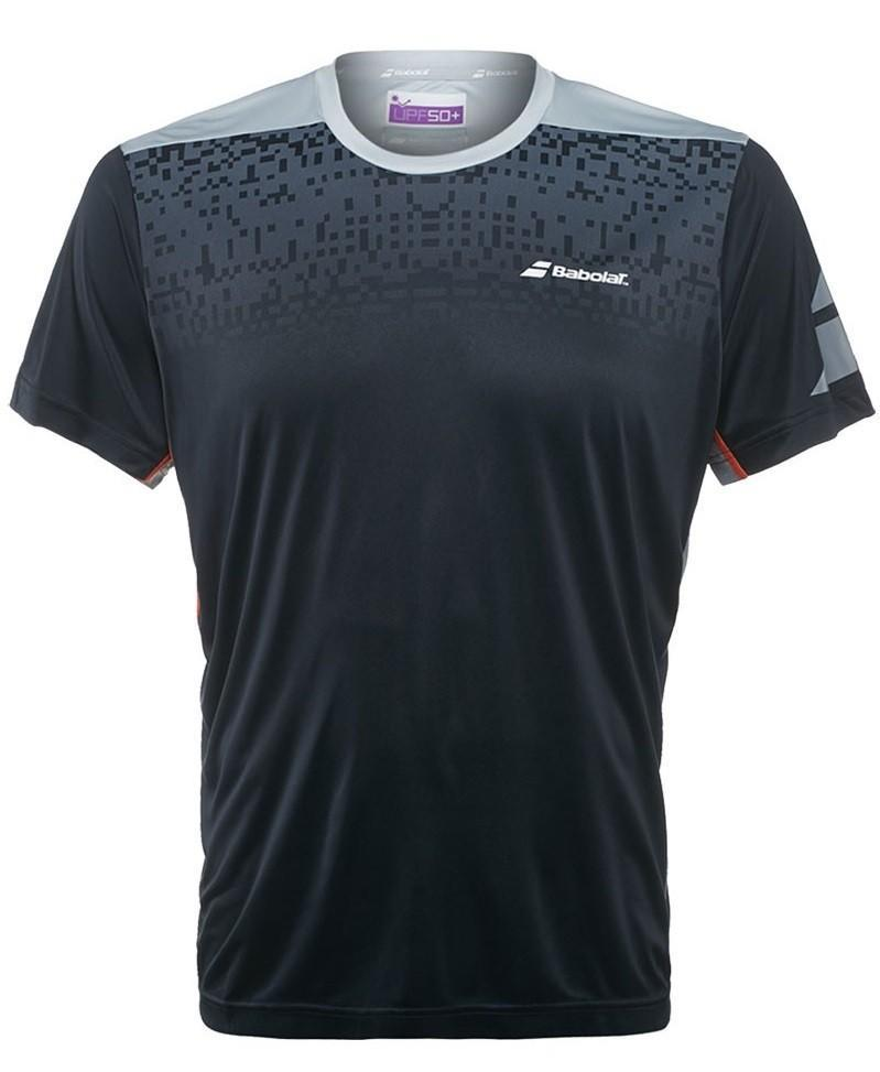 Теннисная футболка мужская Babolat T-Shirt Crew Neck Performance Men black