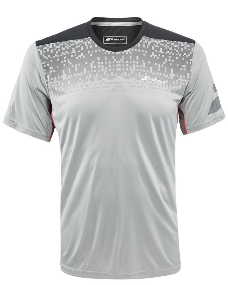 Теннисная футболка мужская Babolat T-Shirt Crew Neck Performance Men gris chine