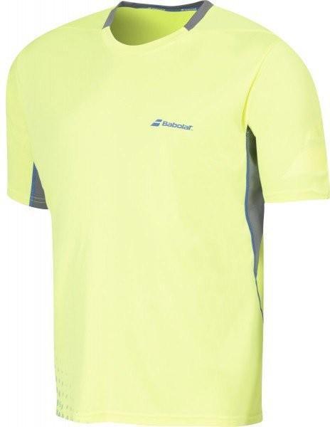 Теннисная футболка мужская Babolat T-Shirt Crew Neck Performance Men yellow