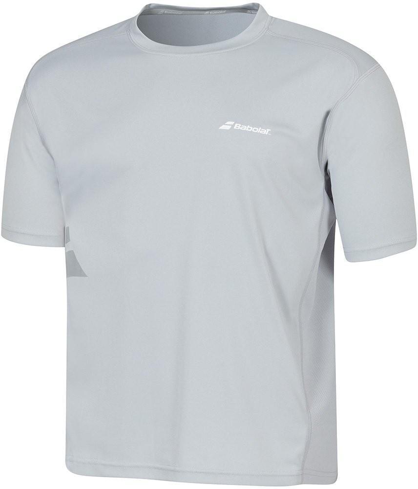 Теннисная футболка мужская Babolat T-Shirt Flag Core Men grey
