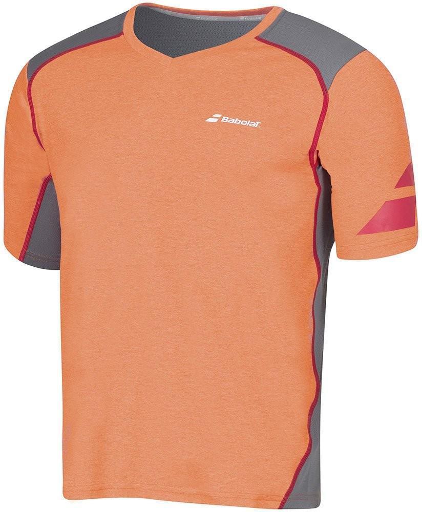 Теннисная футболка мужская Babolat T-Shirt V-neck Performance Men flame