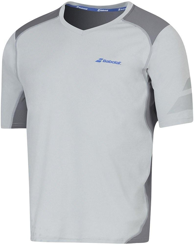 Теннисная футболка мужская Babolat T-Shirt V-neck Performance Men grey