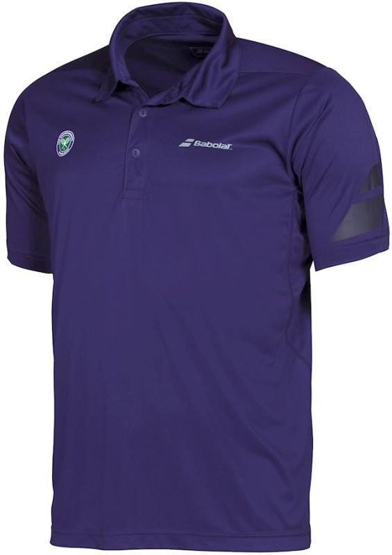 Теннисная футболка мужская Babolat Wimbledon Performance Polo purple поло