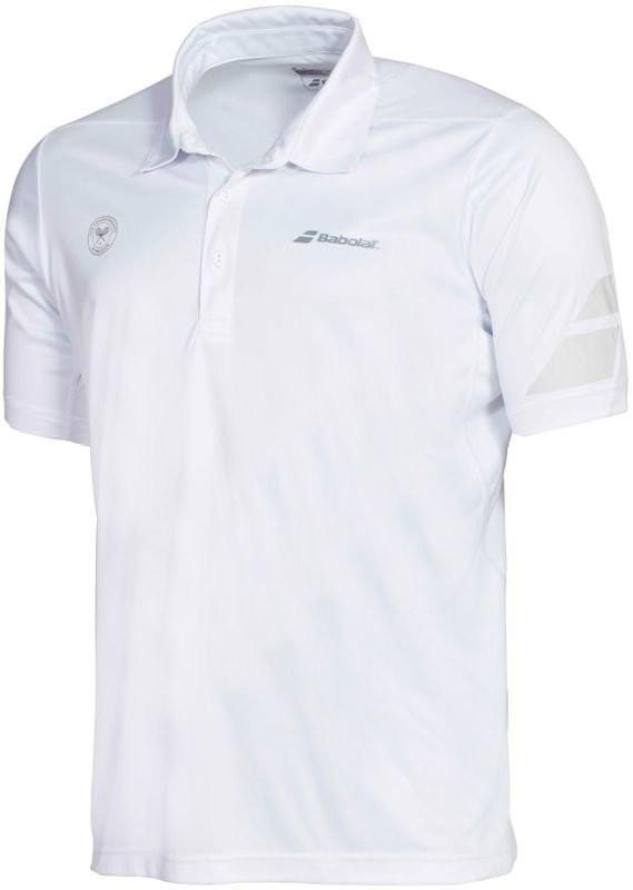 Теннисная футболка мужская Babolat Wimbledon Performance Polo white поло