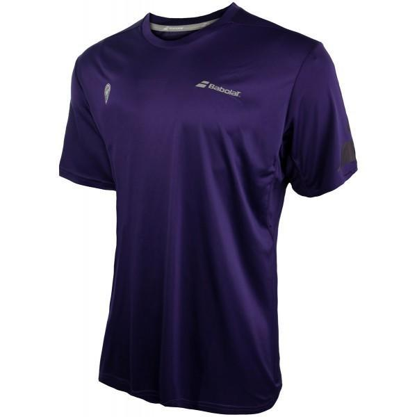 Теннисная футболка мужская Babolat Wimbledon Performance Tee Crew Neck purple
