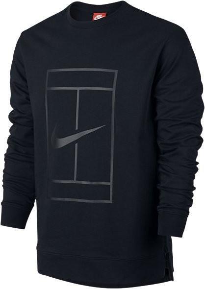 Кофта мужская Nike Court Fleece Crew black