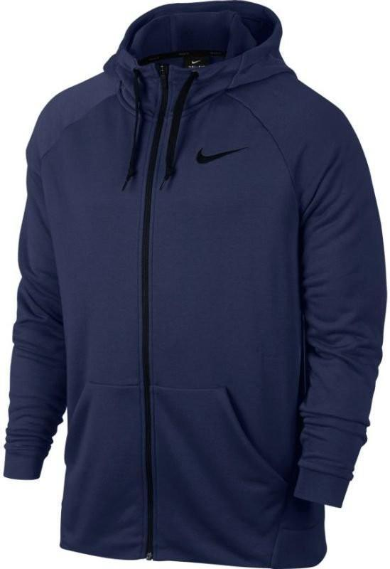 Кофта мужская Nike Dry Hoodie FZ Fleece binary blue/black
