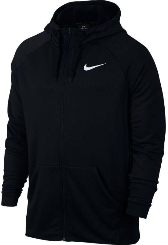 Кофта мужская Nike Dry Hoodie FZ Fleece black/white