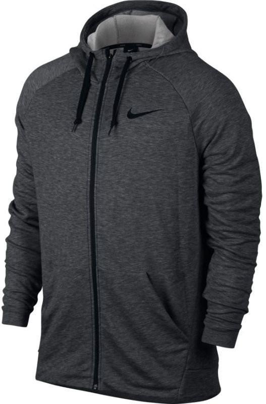 Кофта мужская Nike Dry Hoodie FZ Fleece charcoal heather/black/black