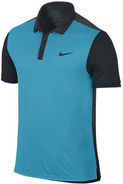 Теннисная футболка мужская Nike Advantage Polo Blue Lagoon w/Black поло
