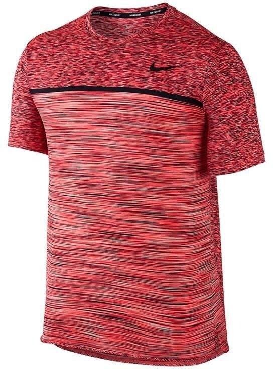 Теннисная футболка мужская Nike Court Dry Challenger Top SS action red/black