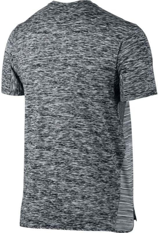 Теннисная футболка мужская Nike Court Dry Challenger Top SS black/dark grey/pure platinum/white
