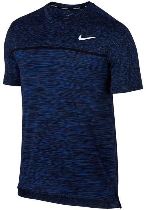 Теннисная футболка мужская Nike Court Dry Challenger Top SS blue jay/white