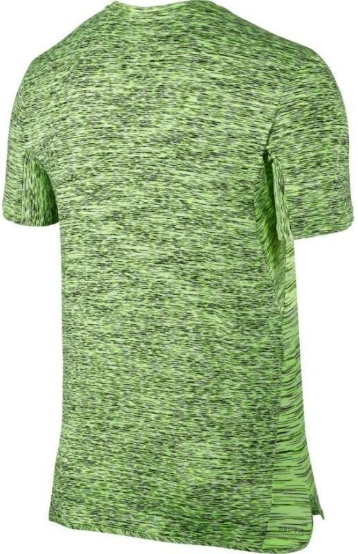 Теннисная футболка мужская Nike Court Dry Challenger Top SS ghost green/volt/white/black