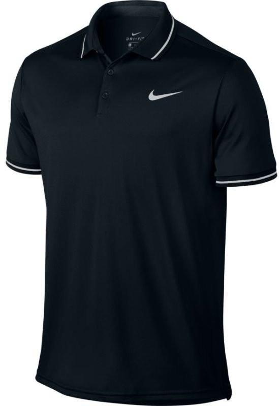 Теннисная футболка мужская Nike Court Dry Polo Solid PQ black/white поло