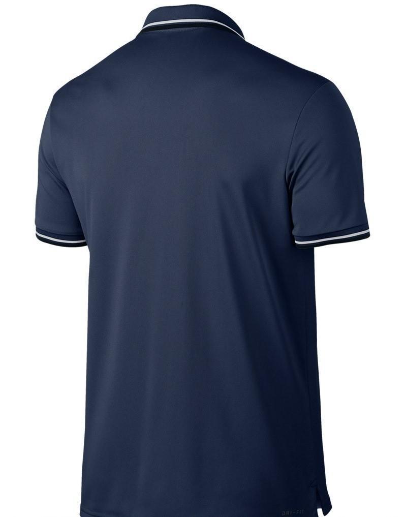 Теннисная футболка мужская Nike Court Dry Polo Solid PQ midnight navy/white поло