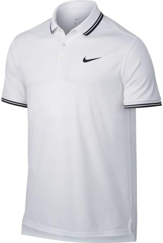 Теннисная футболка мужская Nike Court Dry Polo Solid PQ white/black поло