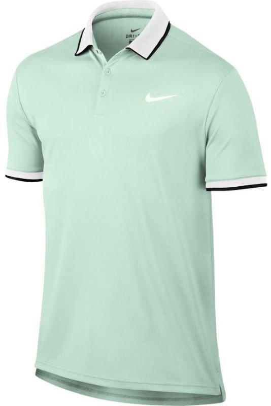 Теннисная футболка мужская Nike Court Dry Polo Team barely green/white/black/white поло