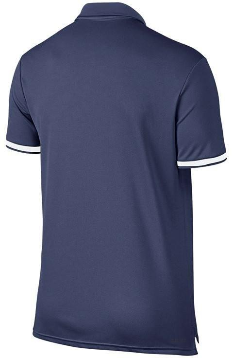 Теннисная футболка мужская Nike Court Dry Polo Team blue recall поло